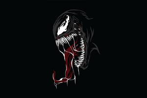 Venom Minimal Design Wallpaper