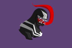 Venom Minimalism 4k Wallpaper