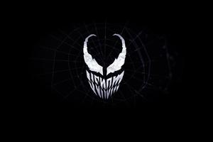 Venom Minimalist Logo 4k