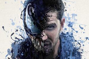 Venom Movie Splash Art
