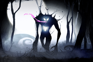Venom Neon Art Wallpaper