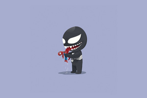 Venom Playtime With Little Spidey