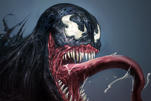 Venom Smiling 4k Wallpaper