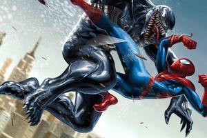Venom Spiderman 4k