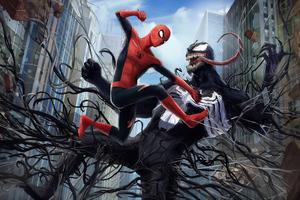 Venom Spiderman Fight