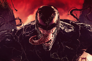 Venom Tounge Out Digital Art 4k