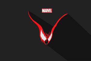 Venom Vector Minimalism 5k Wallpaper