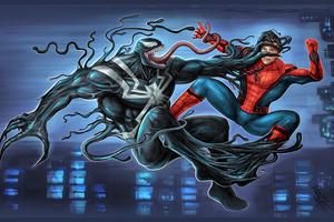 Venom Versus Spider Man