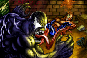 Venom Versus SpiderMan Wallpaper