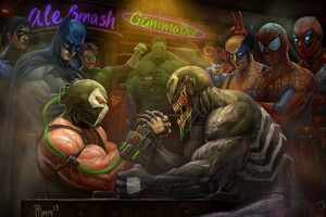 Venom Vs Bane Arm Wrestling