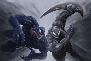Venom Vs Riot 4k Wallpaper