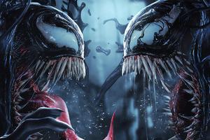 Venom Vs Riot 4k Art