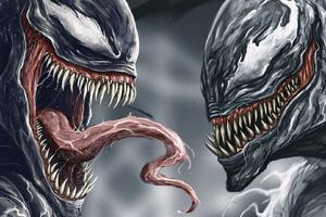 Venom Vs Riot Digital Art Wallpaper