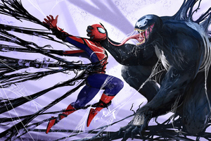 Venom Vs Spider Man Wallpaper