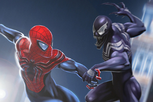 Venom Vs Spiderman Art
