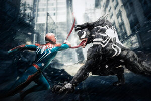 Venom Vs Spiderman HD Wallpaper