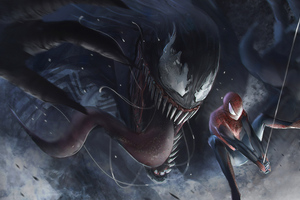 Venom Vs Spidery 4k
