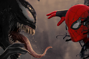 Venom X Spider Man 4k Wallpaper