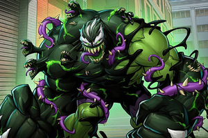 Venomized Hulk Wallpaper
