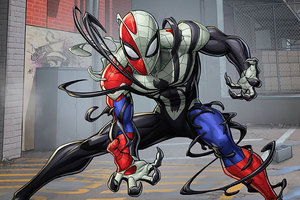 Venomized Spider Man
