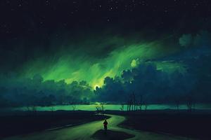 Verdant Moonlight 4k Wallpaper