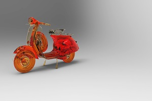 Vespa Scooter Abstract Art Wallpaper