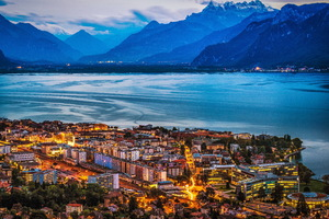 Vevey Switzerland 4k