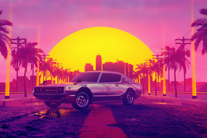 Vice City Morning Effect 4k Wallpaper