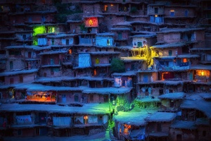 Villages Colorful Lights