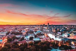 Vilnius Cityscape 4k Wallpaper