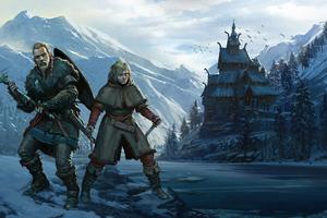 Vinland Saga Assassins Creed Valhalla 4k Wallpaper