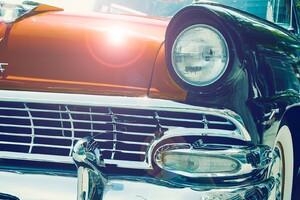 Vintage Car Headlight Wallpaper