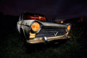 Vintage Old Car Photography Wallpaper