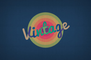 Vintage Typography Wallpaper