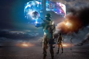 Virtual Reality Soldier 4k