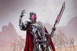 Vision As Ultron 5k Wallpaper