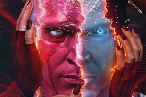 Vision Poster From Wanda Vision 5k Wallpaper
