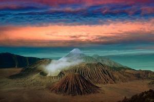 Volcano Landscape Clouds Scenic 8k