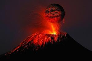 Volcano Lava 4k