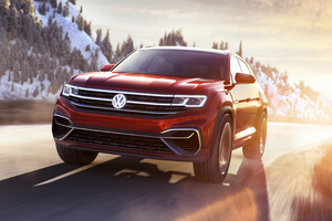 Volkswagen Atlas Cross Sport Concept 2018 Front Wallpaper