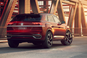 Volkswagen Atlas Cross Sport Concept 2018 Rear Wallpaper
