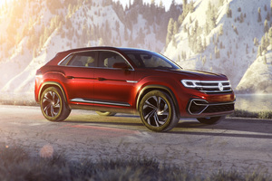 Volkswagen Atlas Cross Sport Concept 2018 Side View Wallpaper