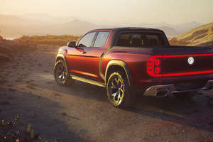 Volkswagen Atlas Tanoak Pickup Truck Concept 2018 Rear Wallpaper