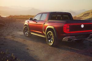 Volkswagen Atlas Tanoak Pickup Truck Concept 2018 Rear