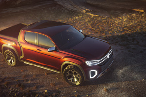 Volkswagen Atlas Tanoak Pickup Truck Concept 2018 Upper View Wallpaper