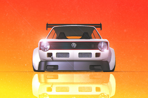 Volkswagen Golf Gti Digital Art 4k Wallpaper