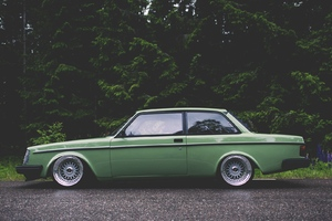 Volvo 242 Vintage Wallpaper