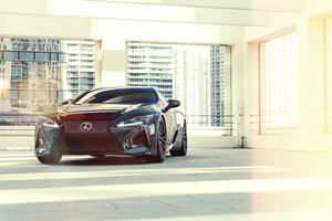 Vossen Dennis Black Lexus LC500 Wallpaper