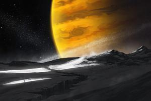 Walk On Dead Moon 5k Wallpaper