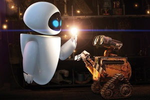 Wall E and Eve Wallpaper